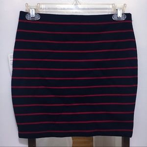🌹Navy Blue/Red Mini Bodycon Skirt BOGO50%